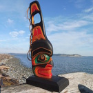 Whale Fin Sculpture with Chief Spirit by John Sharkey