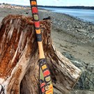 5.1 ft. Thunderbird paddle by Laurence Scow