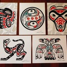 Haida Prints, each hand signed by Lon French