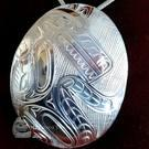 Sterling Silver Wolf pendant, Paddy Seaweed