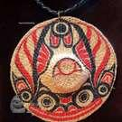 Haida, woven Hat pendant, by Primrose Adams