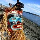 Komokwa Mask with Whale sculpture, Randy Stiglitz/Janice Morin