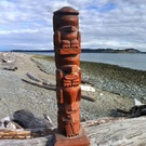 Model Totem Pole, older piece, by Raymond Shaw