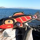 Gorgeous Salmon, copper inlaid, Robert Sanderson, Metis
