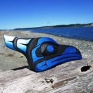 Blue Jay head carving by Sarah Robertson