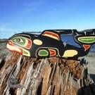 Killer Whale, yellow cedar, by Shane Flood Baker