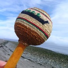 Cedar bark and grass woven Dance Rattle by Sheryl Tate