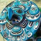 "36"" Eagle Moon Mask by master artist Tom D. Hunt"