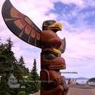 Large Totem Pole, Eagle over Bear, Tony Charlie