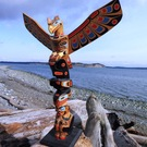 1940's/50's Totem Pole, Joe Johnny, Quatsino Village, superb quality