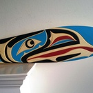 Beautiful fully carved RAVEN Paddle by Trevor Hunt